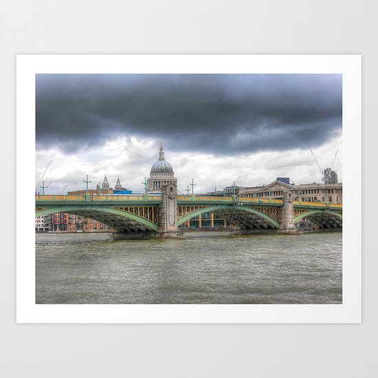 Southwark Bridge Art Print