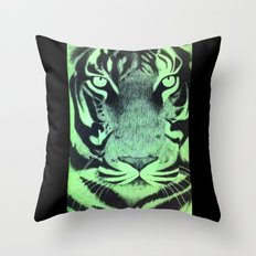 Be A Tiger (Green) Throw Pillow