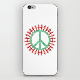 Peace Weed Mushroom iPhone Skin