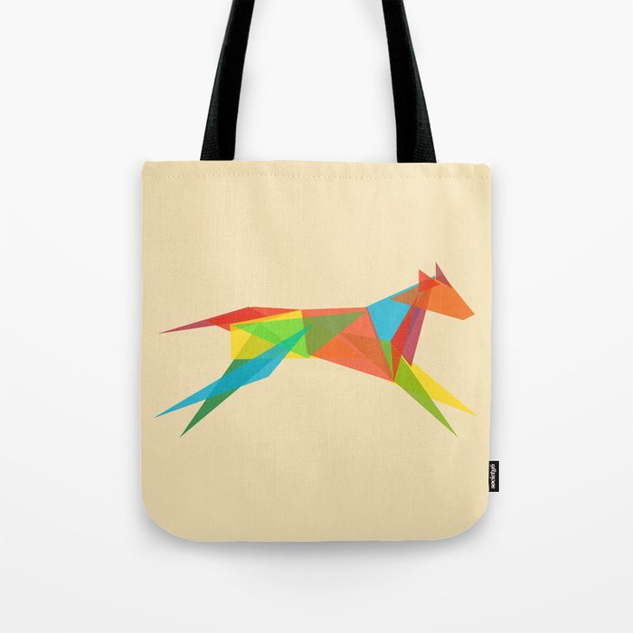 Fractal Geometric Dog Tote Bag
