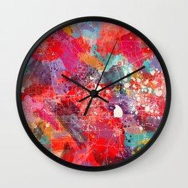 Lakeland map Florida painting 2 Wall Clock