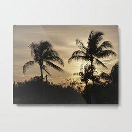 Palm Trees at Sunset Metal Print