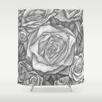 spanish Shower Curtains featuring Spanish Rose by TomLucioArt.com