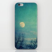 ice iPhone & iPod Skins featuring Ice Moon by Claudia Drossert
