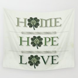 Home Hope Love Shamrock Wall Tapestry