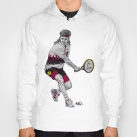 tennis Hoodies featuring Tennis Agassi by Paul Nelson-Esch Art
