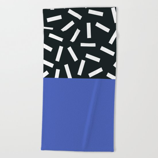 Memphis pattern 19 Beach Towel