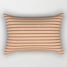 Thin Black Lines On Peach Rectangular Pillow