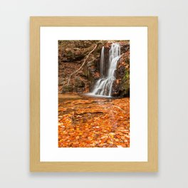 Orange Grove Waterfall Framed Art Print