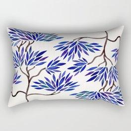Bonsai Tree – Navy Palette Rectangular Pillow