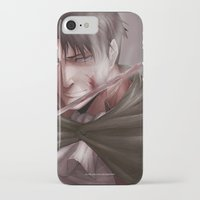 shingeki no kyojin iPhone & iPod Cases featuring Shingeki no Kyojin - Levi by Paleblood