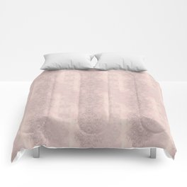 Floral Lace // Pink Semi-Circles Comforters