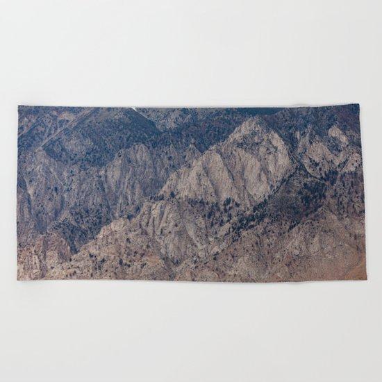 Mountain Layers (Eastern Sierra Nevadas, California) Beach Towel