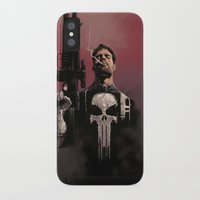 punisher iPhone & iPod Cases featuring Punisher by Dave Seguin