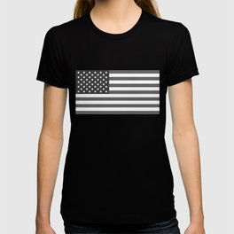 National flag of the USA, B&W version T-shirt