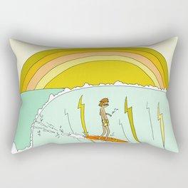 surf legend gerry lopez lightning bolt retro surf art by surfy birdy Rectangular Pillow