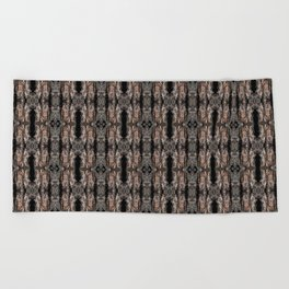 Pine Bark Pattern by Debra Cortese Design Beach Towel