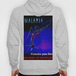 Malaria Knocks You Flat Hoody