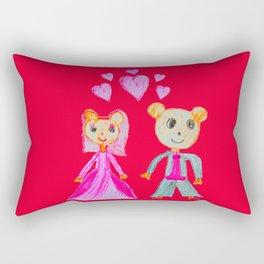 Simple Love | Kids Painting Rectangular Pillow