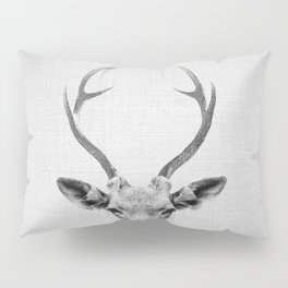 Deer - Black & White Pillow Sham