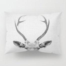 Deer - Black & White Pillow Sham