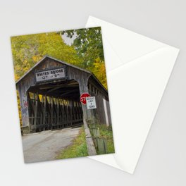 White's Covered Bridge in Fall Stationery Cards