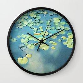 Water Lilies Wall Clock