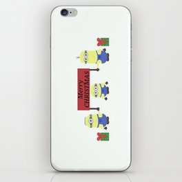 christmas minion iPhone Skin
