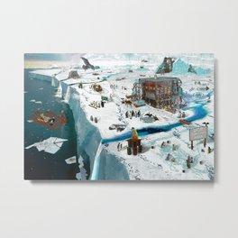 Save the Ice Metal Print