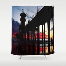 Super sky surfer Shower Curtain