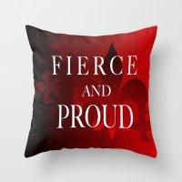 fleur de lis Throw Pillows featuring FLEUR DE LIS   by Saundra Myles