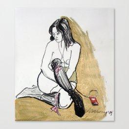 HOMMAGE A SCHIELE Canvas Print