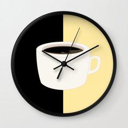 Yellow Coffee Wall Clock