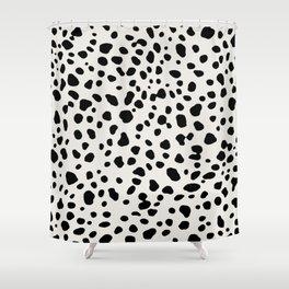 Polka Dots Dalmatian Spots Shower Curtain