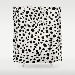 Polka Dots Dalmatian Spots Shower Curtain