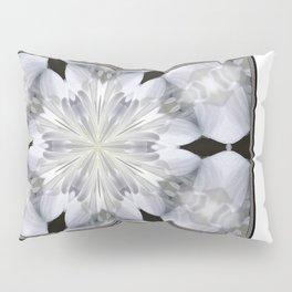 White Arctic Queen Kaleidoscope Pillow Sham