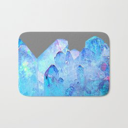 AURAL BLUE CRYSTALS ART Bath Mat