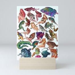 Reverse Mermaids Mini Art Print