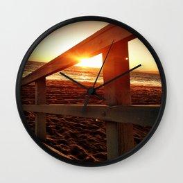 "Redondo Beach ""Life Guard Tower 2"" Wall Clock"