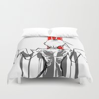 death Duvet Covers featuring DEATH by ASHES
