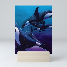 A Family Affair - Orcas Mini Art Print