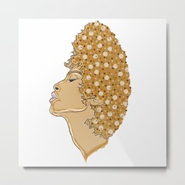 Soulful woman of the digital youth Metal Print
