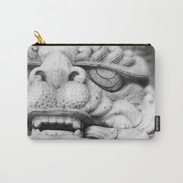 Foo Dog - black and white Carry-All Pouch