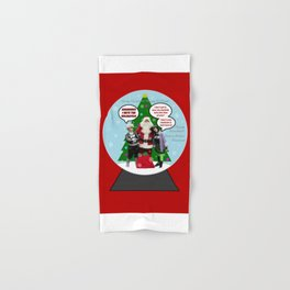 Danny Phantom snowglobe Christmas card Hand & Bath Towel