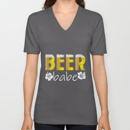 Beer Babe Woman Gift | Pale Ale Women Festival Unisex V-Neck