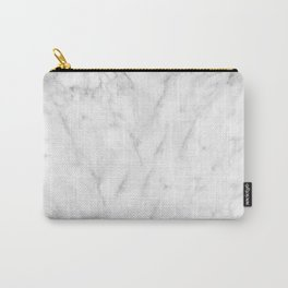 White Marble Print III Carry-All Pouch