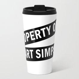 Property of Bart Simpson Travel Mug