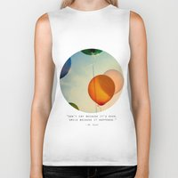 happiness Biker Tanks featuring Happiness... by Alicia Bock