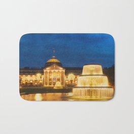 Night At The Kurhaus Wiesbaden | Painting Bath Mat