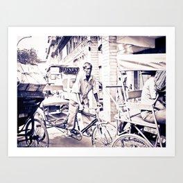 Mr RickShaw Art Print